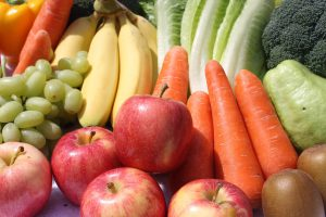 bananas, grapes, apples and carrots for making my favourite smoothie recipes